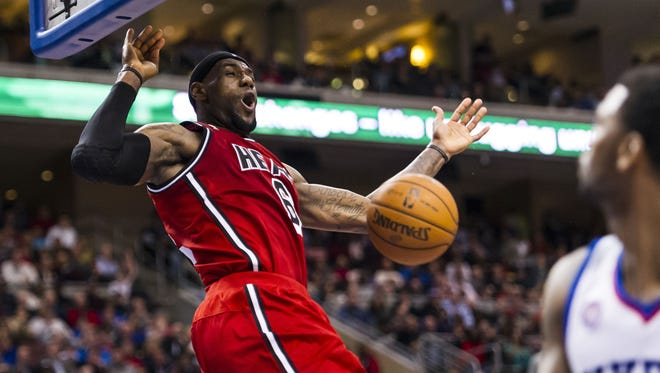 Heat forward LeBron James is the most explosive in-game and pregame dunker in the NBA. But he won't enter a contest.