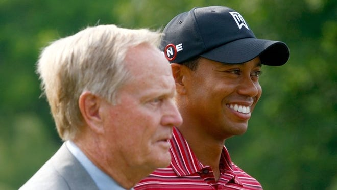 Tiger Woods watches his tee shot during the final round of the Memorial Tournament at the Muirfield Village Golf Club on June 7, 2009 in Dublin, Ohio.