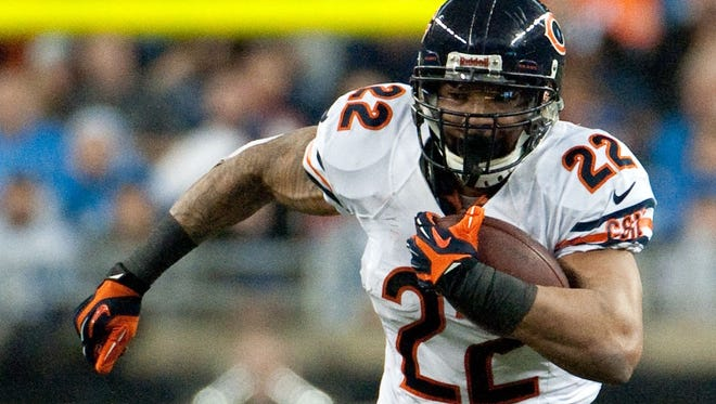 Bears running back Matt Forte will be none too pleased if a new NFL rule passes that would ban runners from lowering their heads.