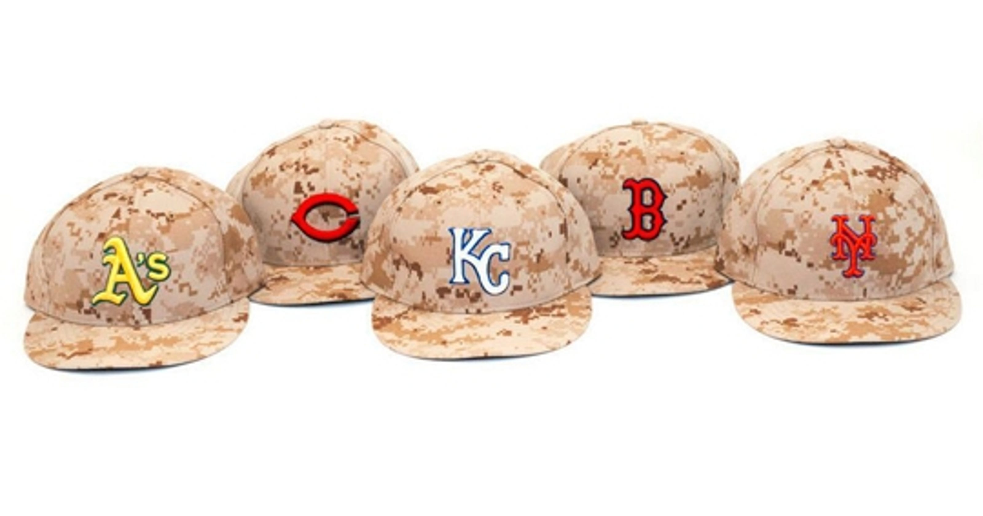 MLB teams will wear camouflage hats to honor veterans on Memorial Day 5c1f309b47a