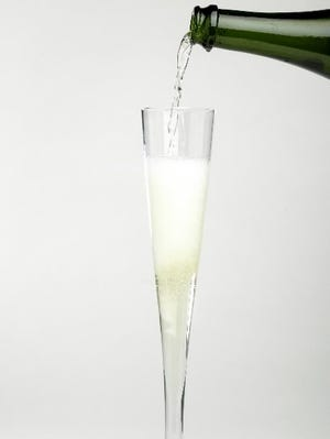 File photo shows a flute of sparkling wine.