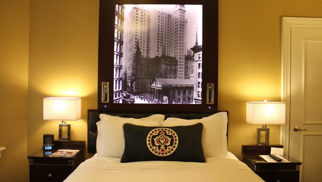 A guest room at New York's iconic Algonquin Hotel, which completed a massive renovation in early 2012.