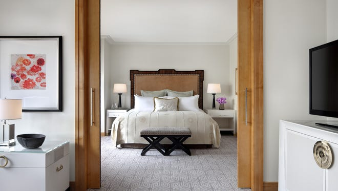 The new look of the New York Palace hotel in Midtown New York. The hotel is renovating its 899 guest rooms.