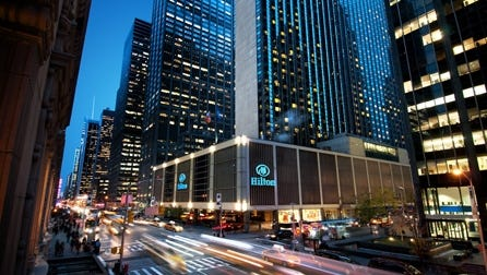 "<p class=""MsoNormal"">New York Hilton tops for TripIt users: The No. 1 U.S. hotel booked most often by TripIt's 7 million users is the New York Hilton, the second-largest hotel in Manhattan.</p>"