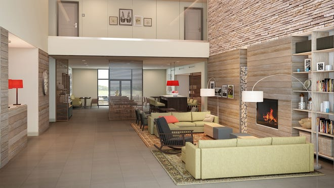 This rendering shows the new prototype for the Country Inns & Suites chain. It's designed to meet the needs of Millennials and Gen Y members.