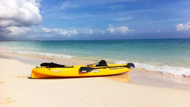 Guests at the Fairmont Mayakoba in Mexico's Riviera Maya get complimentary sea kayaking close to the Mesoamerican Reef, the largest in the Americas.