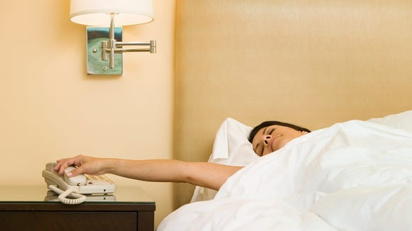 The hotel wake-up call gets personal