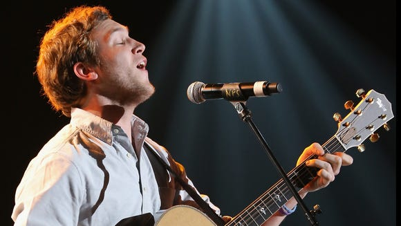 Phillip Phillips performs onstage