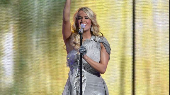 Carrie Underwood performs in Nashville, Tenn.