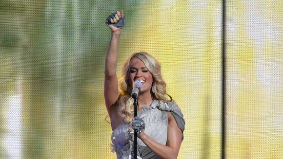 Carrie Underwood at Nashville's Bridgestone Arena