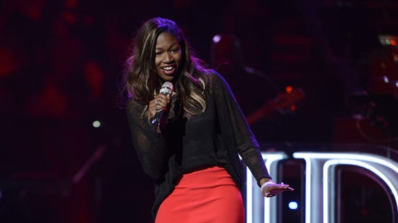 Amber Holcomb performs in the Sudden Death Round of AMERICAN IDOL.