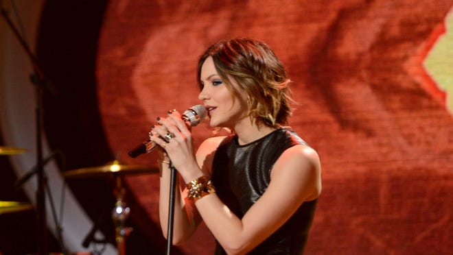 Katherine McPhee performs with OneRepublic on AMERICAN IDOL airing Thursday, March 28, on FOX.