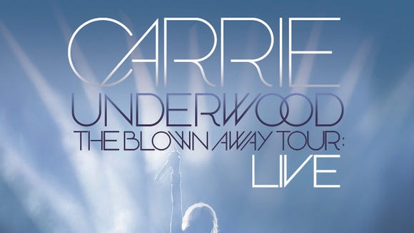 "Carrie Underwood's ""The Blown Away Tour: Live"" DVD will come out Aug. 13."