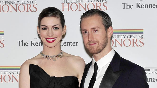 Anne Hathaway and Adam Shulman, seen here at the 2011 Kennedy Center Honors, got married Saturday.