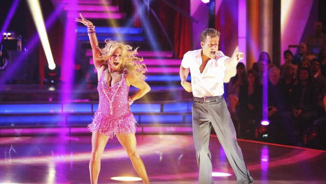 Sabrina Bryan and Louis Van Amstel on the Sept. 24 edition of 'DWTS.'