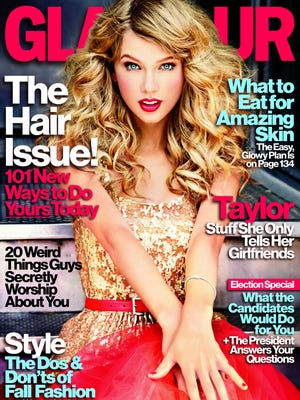 Taylor Swift is 'Glamour' mag's November cover girl.