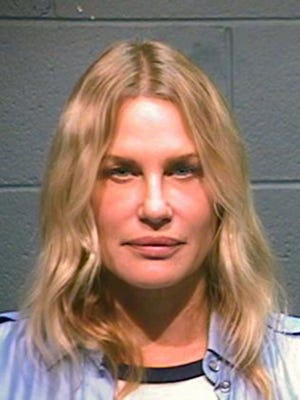 This booking photo provided by the Wood County Sheriff shows actress Daryl Hannah after her arrest in Winnsboro, Texas on Thursday.