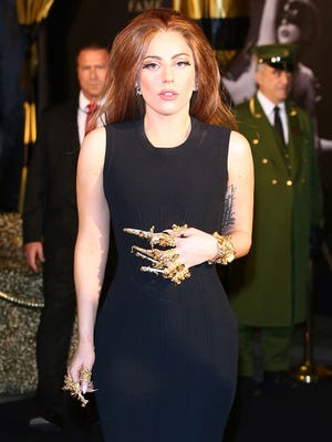 Lady Gaga attends the launch of her new fragrance Fame by Lady Gaga at Harrods on Sunday in London.