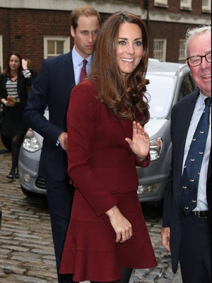 Will and Kate, Duke and Duchess of Cambridge, arrive to meet law student scholars in London.