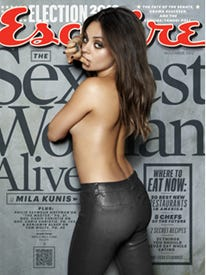 'Esquire' mag names Mila Kunis the 2012 Sexiest Woman Alive.