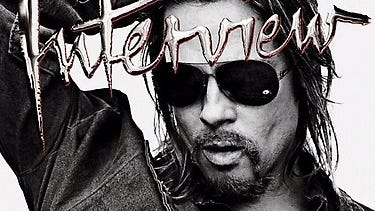 Brad Pitt is 'Interview' mag's November cover boy.