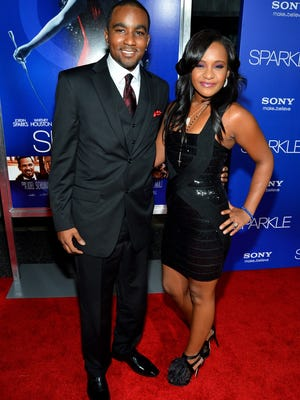 Was Bobbi Kristina Brown wearing engagement bling from Nick Gordon at the 'Sparkle' premiere on Aug. 16 in Hollywood?