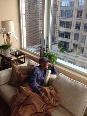 Robin Roberts, happy at home in NYC.
