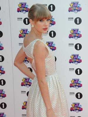 Taylor Swift attends the BBC Radio 1 Teen Awards on Oct. 7 in London.