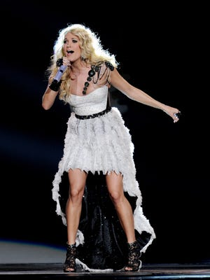 Carrie Underwood performs at Staples Center on Tuesday in Los Angeles.