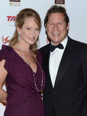 Actress Uma Thurman and Arpad Busson attend a gala at the American Museum of Natural History on Sept. 19 in New York.