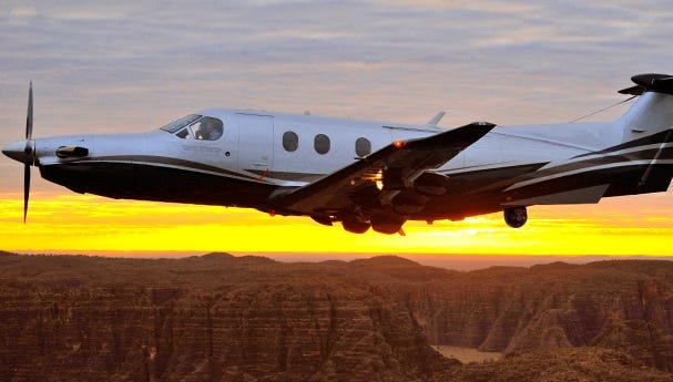 The Swiss-made Pilatus PC-12 NG Spectre features surveillance gear like that used by the pilotless U.S. drones in war zones and elsewhere around the globe.