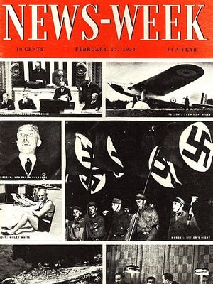 The cover of the first edition of News-Week in February 1933.