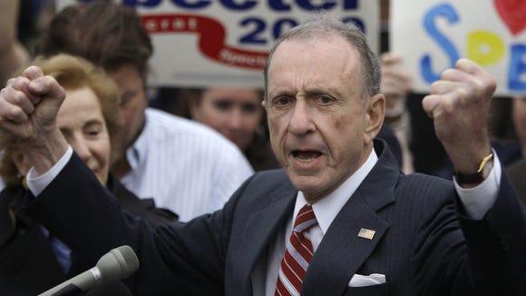 Former Pennsylvania senator Arlen Specter died in October.