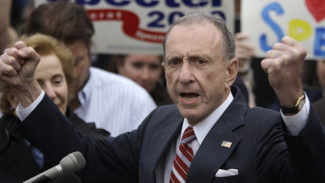 Former Pennsylvania senator Arlen Specter died in October.