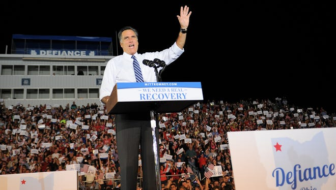 Mitt Romney held a campaign rally in Defiance, Ohio.