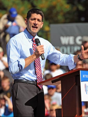 Rep. Paul Ryan campaigns in many states as the GOP vice presidential nominee.