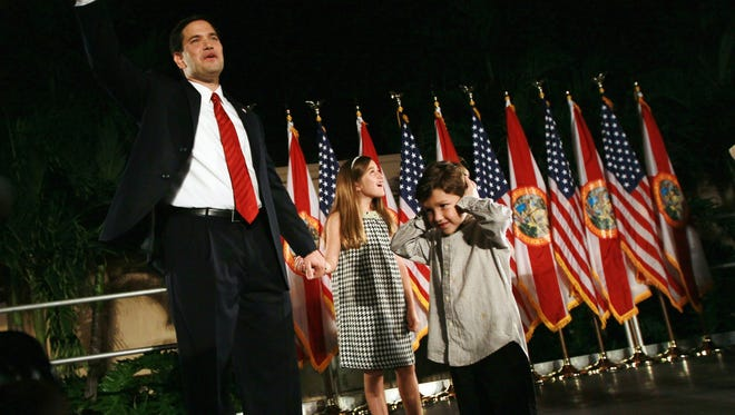 Sen. Marco Rubio, R-Fla., stands with daughter Amanda and son Anthony in a 2010 photo.