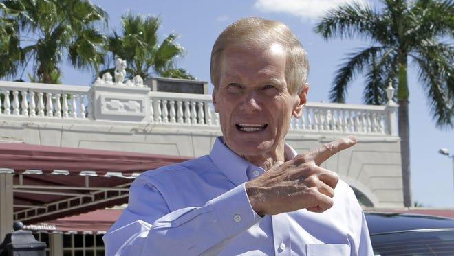 Democrat Bill Nelson is seeking his third term in the U.S. Senate.