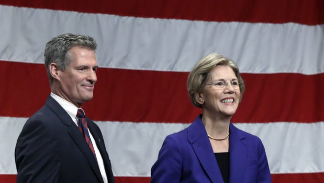 GOP incumbent Scott Brown, left, and Democrat Elizabeth Warren are competing in a tight Senate race in Massachusetts.
