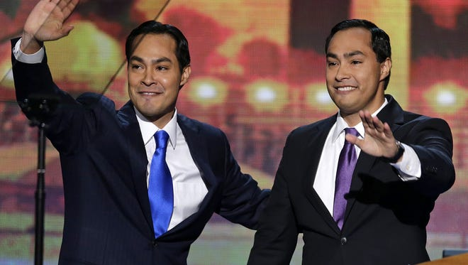 San Antonio Mayor Julian Castro, left, and his brother, Joaquin, spoke at the Democratic convention.