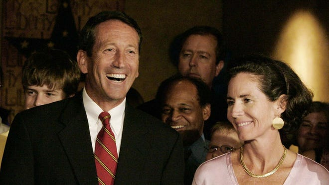 Mark and Jenny Sanford are pictured here during happier times in 2006, when he won the GOP nomination for South Carolina governor.