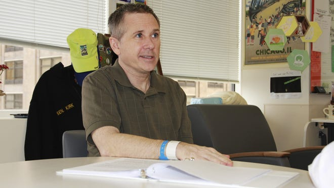 Sen. Mark Kirk, R-Ill, credits the Rehabilitation Institute of Chicago for helping him recover after a major stroke.