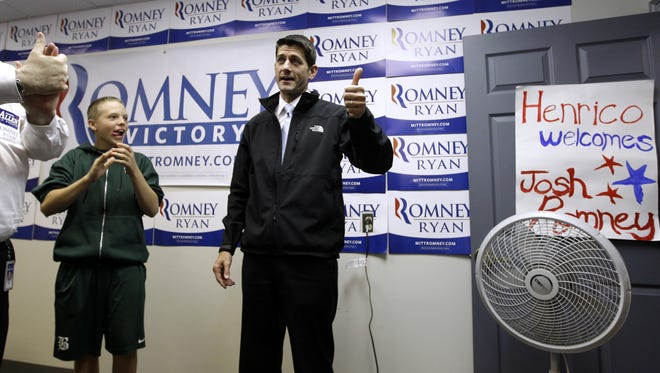 GOP vice presidential candidate Paul Ryan campaigned in Virginia on Election Day 2012.