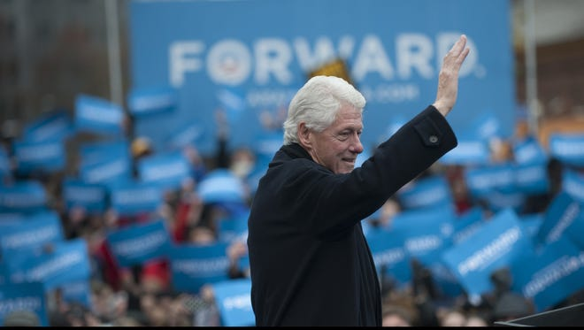 Bill Clinton, seen here in Pittsburgh, campaigned frequently for President Obama in 2012.