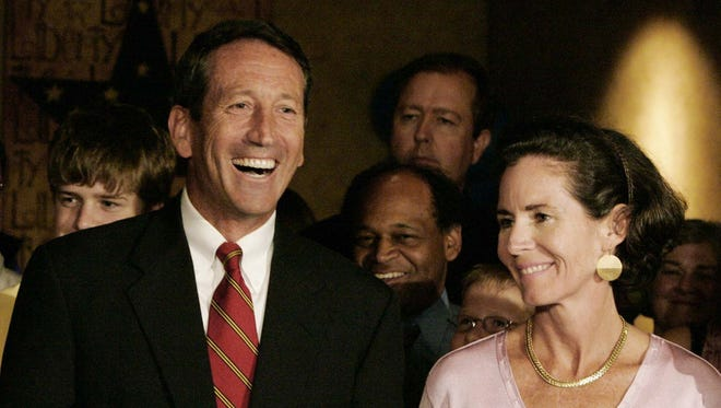 Mark and Jenny Sanford, pictured here in 2006, during happier times. They were divorced in 2010.