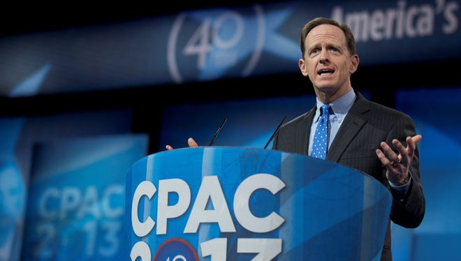 Sen. Pat Toomey, R-Pa., took a lead role in crafting a bipartisan deal to expand gun background checks.