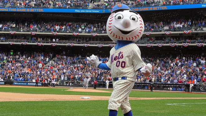 Mr. Met is the official mascot of baseball's New York Mets.