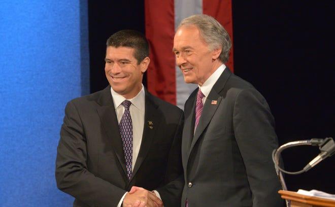 Republican Gabriel Gomez, left, and Democratic Congressman Ed Markey are vying to replace John Kerry in the U.S. Senate.