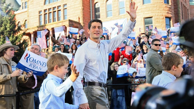Republican vice presidential candidate Paul Ryan campaigned in Clinton, Iowa, before the 2012 elections.