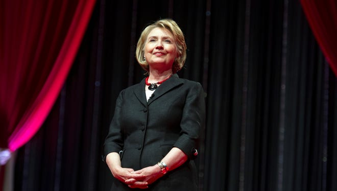 Former Secretary of State Hillary Rodham Clinton addresses the 51st Delta Sigma Theta National Convention in Washington, Tuesday, July 16, 2013.